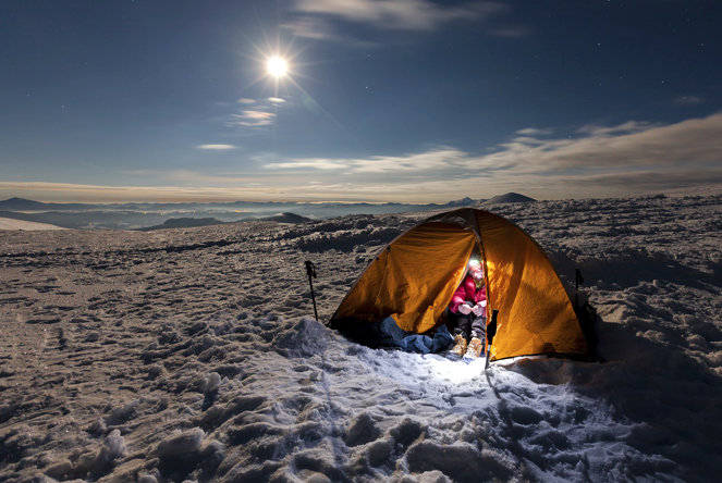 Camping during the cold season